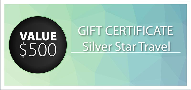 Silver Star Travel Gift Certificate